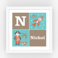 Personalised Art for Kids Bedroom, Playroom and Nursery